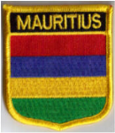 Mauritius Embroidered Flag Patch, style 07.